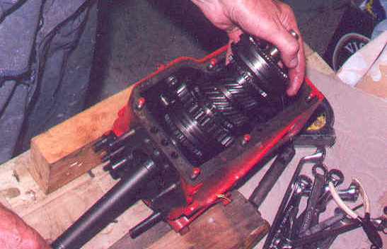 inserting the mainshaft