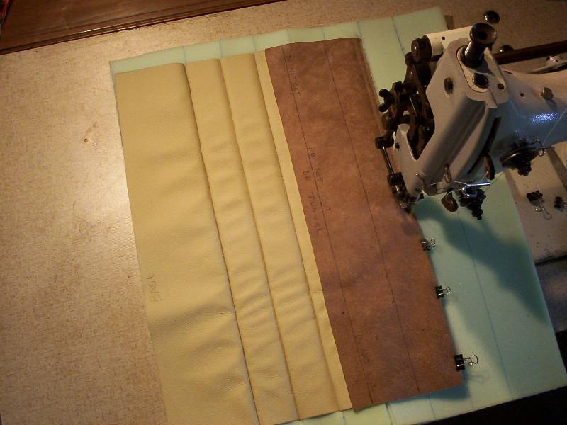 sewing pleats for the seat squabs